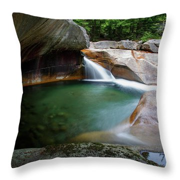 The Basin At Franconia Notch State Park Throw Pillow