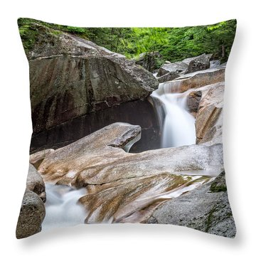 The Basin Down River Throw Pillow
