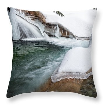 Throw Pillow featuring the photograph The Basin Side View Nh by Michael Hubley