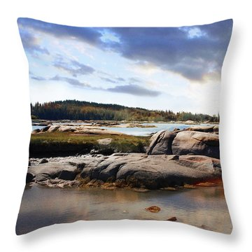 The Basin, Vinalhaven, Maine Throw Pillow