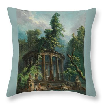 The Bathing Pool Throw Pillow