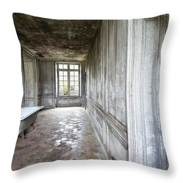 The Bathroom Next Door - Urban Exploration Throw Pillow by Dirk Ercken