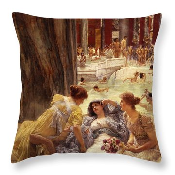 The Baths Of Caracalla Throw Pillow