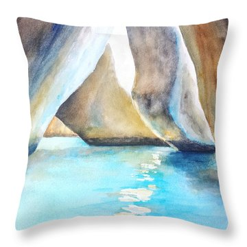 The Baths Water Cave Path Throw Pillow