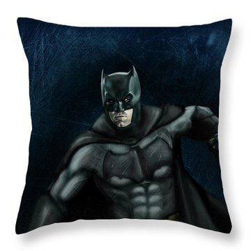 The Batman Throw Pillow by Vinny John Usuriello