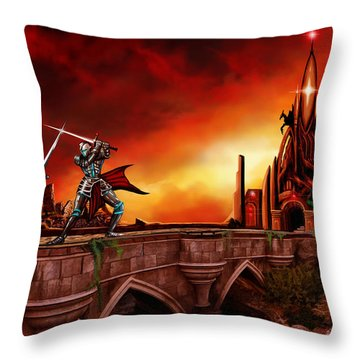 The Battle For The Crystal Castle Throw Pillow