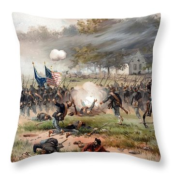 The Battle Of Antietam Throw Pillow