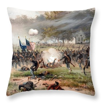 The Battle Of Antietam Throw Pillow by War Is Hell Store