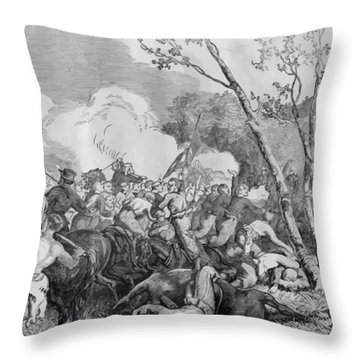 The Battle Of Bull Run Throw Pillow