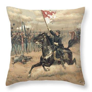 The Battle Of Cedar Creek Virginia Throw Pillow