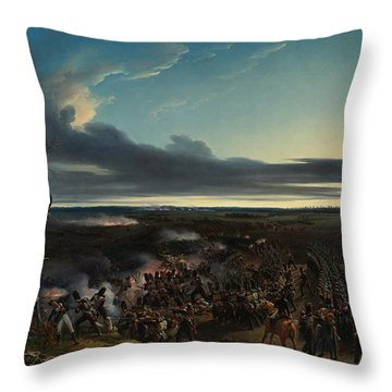 The Battle Of Montmirail Throw Pillow