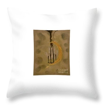 The Battle Of Religons And Wars 4 Liquid Gold Throw Pillow