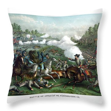 The Battle Of Winchester Throw Pillow