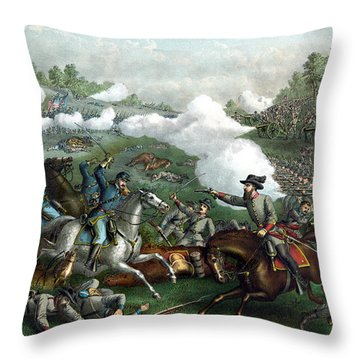 The Battle Of Winchester Throw Pillow by War Is Hell Store