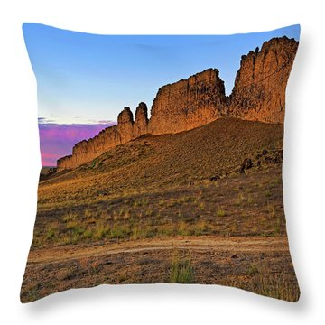 The Battlements Of Shiprock - New Mexico - Landscape Throw Pillow by Jason Politte