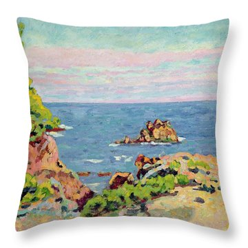 The Baumettes Throw Pillow by Jean Baptiste Armand Guillaumin