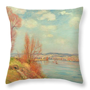 The Bay And The River Throw Pillow by Jean Baptiste Armand Guillaumin