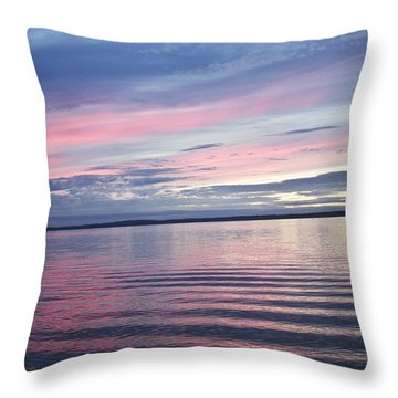 The Bay Throw Pillow by Elvira Butler