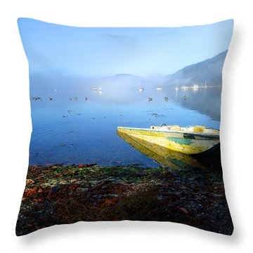 The Bay Throw Pillow by Mark Alan Perry