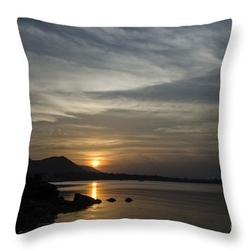 The Bay Throw Pillow by Michelle Meenawong