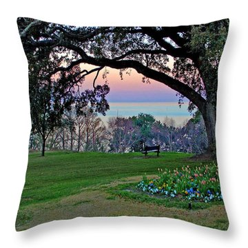 The Bay View Bench Throw Pillow