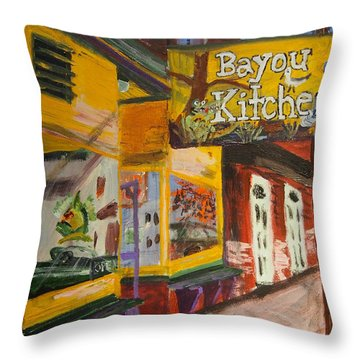 The Bayou Kitchen Throw Pillow