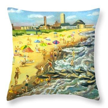 The Beach At Ocean Grove Throw Pillow