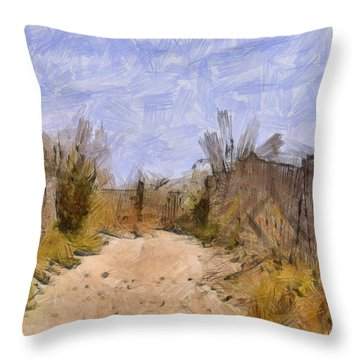 The Beach Awaits Throw Pillow