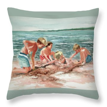 The Beach Boys Throw Pillow