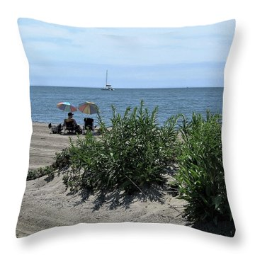 The Beach Throw Pillow