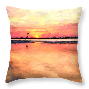 On The Beaches Of South Walton Throw Pillow