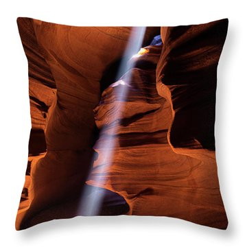 The Beam Of Light Throw Pillow