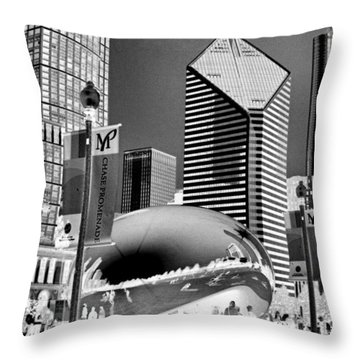 The Bean - 2 Throw Pillow by Ely Arsha