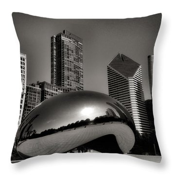 The Bean - 4 Throw Pillow by Ely Arsha