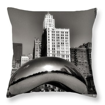 The Bean - 3 Throw Pillow by Ely Arsha