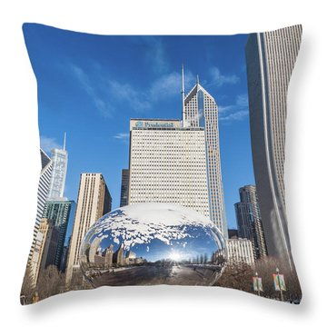 The Bean And The City Throw Pillow
