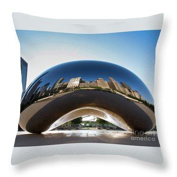 The Bean's Early Morning Reflections Throw Pillow