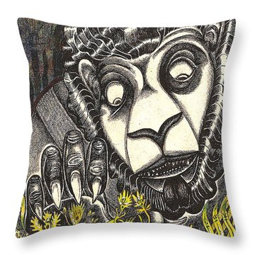 The Beast Discovers New Life Throw Pillow