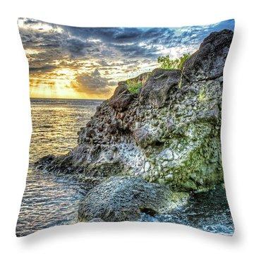 The Beast Of Saint Lucia Anse Chastanet Anse Mamin Caribbean Throw Pillow