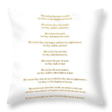 The Beatitudes Gospel Of Matthew Throw Pillow