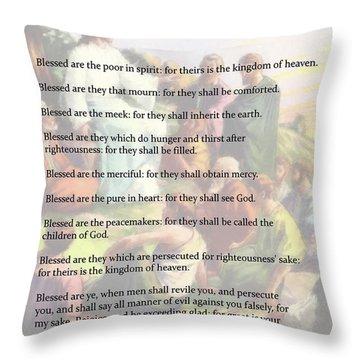 The Beatitudes Throw Pillow