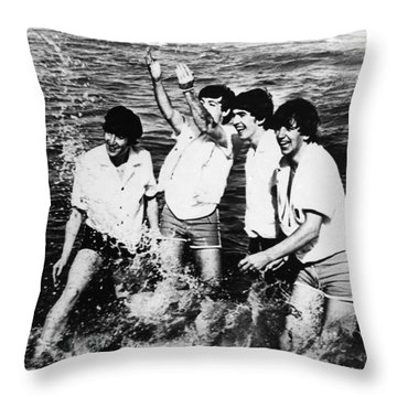 The Beatles, 1964 Throw Pillow by Granger