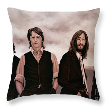 The Beatles 3 Throw Pillow