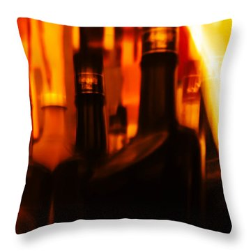 The Beautiful Colours Throw Pillow by Rajiv Chopra