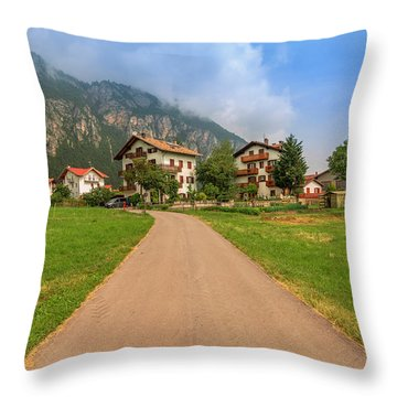 Throw Pillow featuring the photograph The Beautiful Dolomites by Roy McPeak