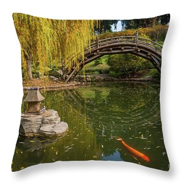 The Beautiful Fall Colors Of The Japanese Gardens Throw Pillow