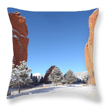 The Beautiful Gate Throw Pillow by Eric Glaser