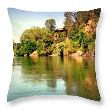 The Beautiful Sacramento River Throw Pillow