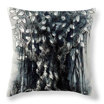 The Beautiful Tree Throw Pillow by Rachel Christine Nowicki