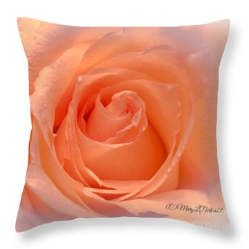 The  Beauty Of A Rose  Copyright Mary Lee Parker 17,  Throw Pillow by MaryLee Parker